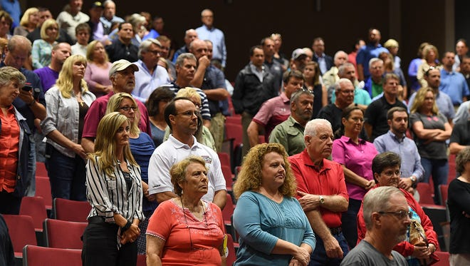 Powdersville residents attend a town hall meeting on zoning and incorporation at Powdersville High on Thursday, August 31, 2017.