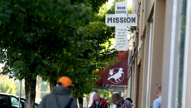 The Union Gospel Mission men's shelter in downtown Salem on Wednesday, Oct. 11, 2017. The homeless shelter is expected to move north of downtown in 2020.
