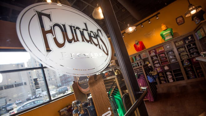 The gift store at Founders Brewing Co. Detroit taproom on Friday, Dec. 1, 2017.