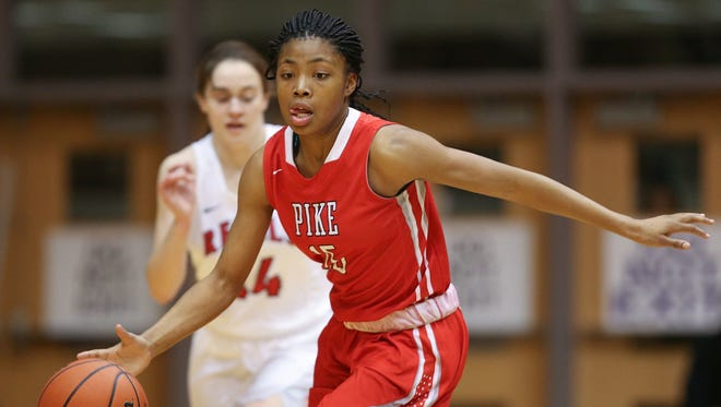 FILE – Angel Baker scored 31 points and led Pike to a 60-52 win over North Central on Saturday at Bankers Life Fieldhouse.