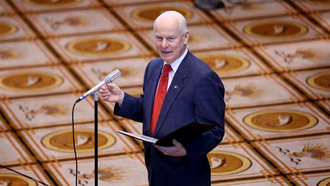 Oregon Secretary of State Dennis Richardson at the Capitol in January.