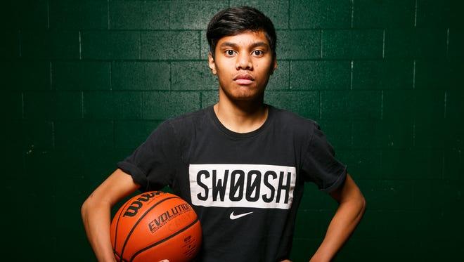McKay basketball's Drioji Joel at a practice on Wednesday, Jan. 10, 2018, in Salem, Ore.