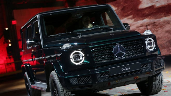 The new Mercedes-Benz G-Class during the North American International Auto Show at the Michigan Theatre in Detroit on Sunday, January 14, 2018.