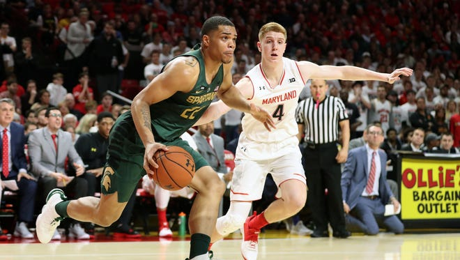 Miles Bridges, left, and Michigan State have won four straight since losing to Michigan on Jan. 13.