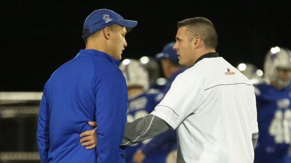 Vito Campanile (left), seen here with Seton Hall Prep in 2015, will become the next head coach at Bergen Catholic.