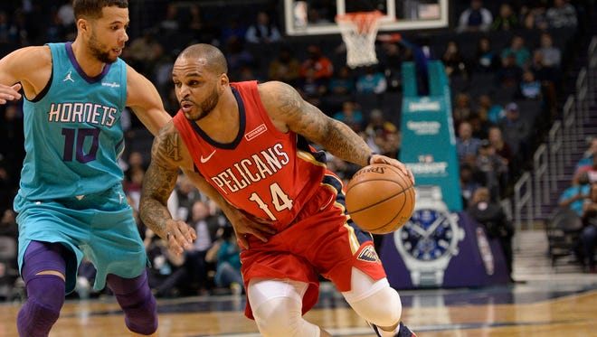 Jameer Nelson pictured Jan. 24, 2018 with New Orleans. Nelson was traded to Chicago in the Nikola Mirotic deal on Feb. 1.