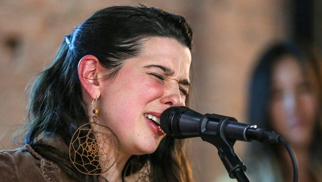"""Sarah Grain & the Billions of Stars perform on the March 1, 2018, episode of """"Dogfish Head Brewery present IndyStar Sessions at Square Cat Vinyl."""""""