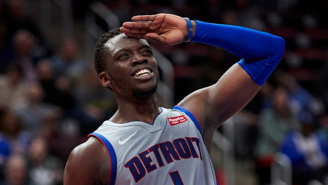 Pistons guard Reggie Jackson had 20 points on 9-for-22 shooting in 28 minutes on Monday against the Lakers.