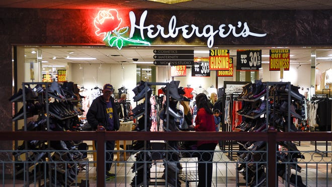 Shoppers started taking advantage of Herberger's going out of business sale  Saturday, April 21, in St. Cloud.