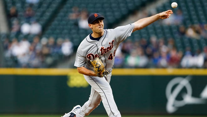 Detroit Tigers pitcher Matthew Boyd throws against the Seattle Mariners during the first inning at Safeco Field on May 17, 2018.