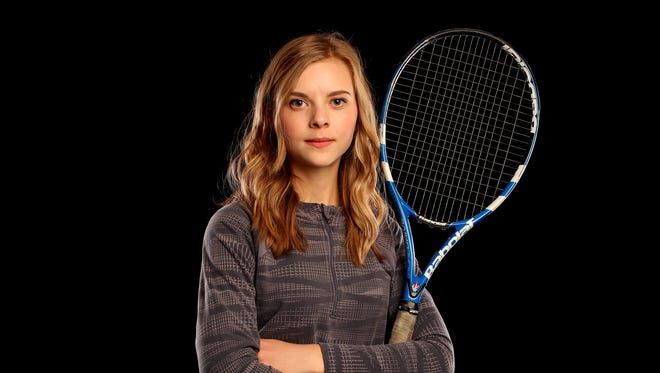 DO NOT USE UNTIL AFTER 6/6/17 - McNary junior Hannah Childress is nominated for Girl's Tennis Player of the Year in the Statesman Journal Sports Awards. Photographed at the Statesman Journal in downtown Salem on Tuesday, May 9, 2017.