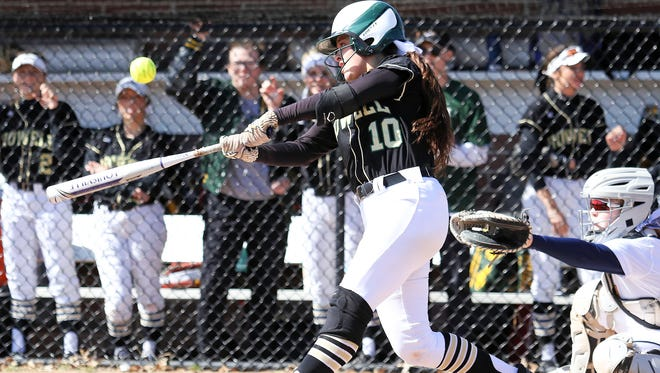 Howell's Taylor Frank had the game-winning hit in the seventh inning against Sanford-Meridian at the Meridian Invitational.