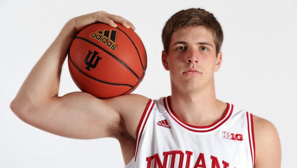 Collin Hartman is back on the court after tearing his