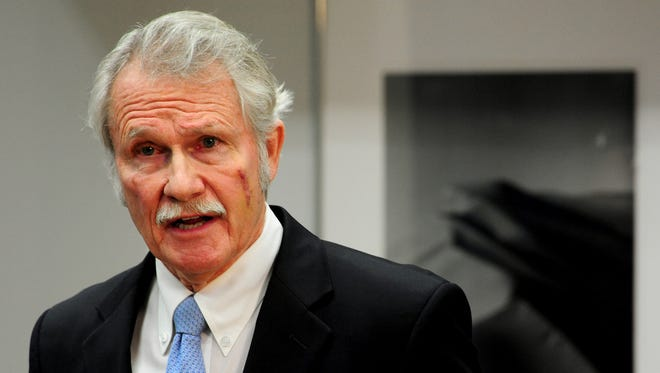 Gov. John Kitzhaber holds a Jan. 30 press conference in Portland about his fianceee, Cylvia Hayes, and her possible conflicts of interest.