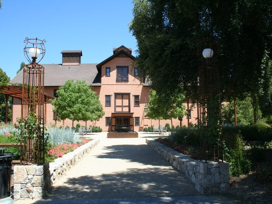 The historic winery building at Trefethen Family Vineyards in the Oak Knoll District of Napa Valley still is a working cellar. The redwood building was built in 1886.