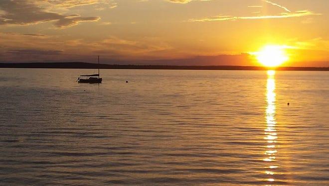 Higgins Lake at sunset.