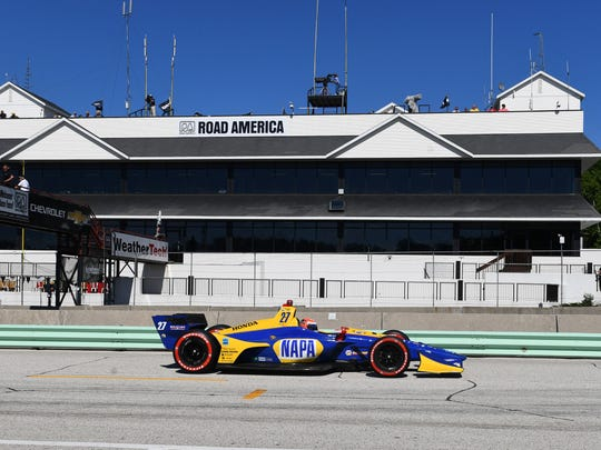 Verizon Indy Car driver Alexander Rossi (27) during
