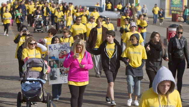 Hope Sheds Light's annual walk in Seaside Heights