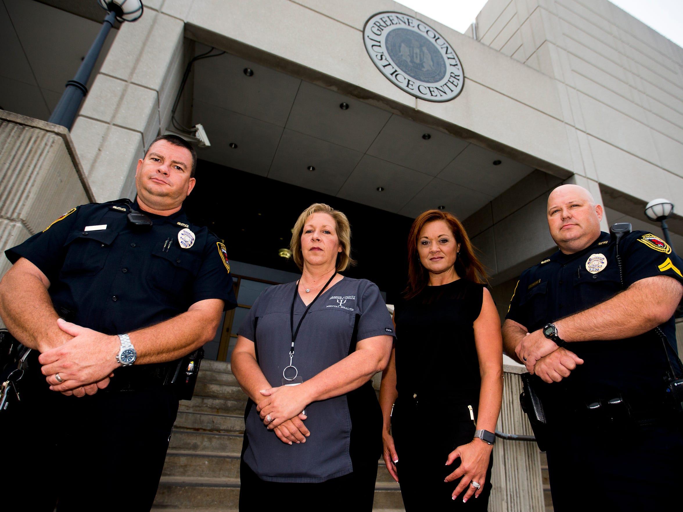 From Left, Springfield Police Officer Matt Lilly, Director
