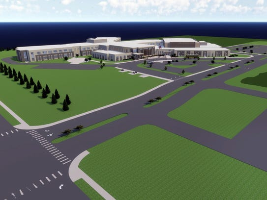 A preliminary drawing of how the new Forest Park Middle