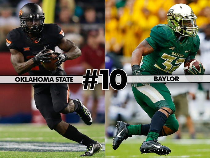 Oklahoma State at No. 6 Baylor (Saturday at 7:30 p.m.
