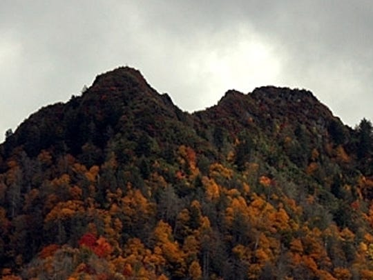 The Chimney Tops before the November 2016 wildfires