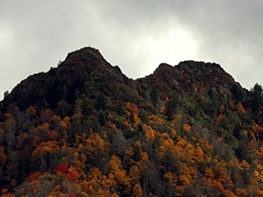 The Chimney Tops before the November 2016 wildfires in the Smokies.