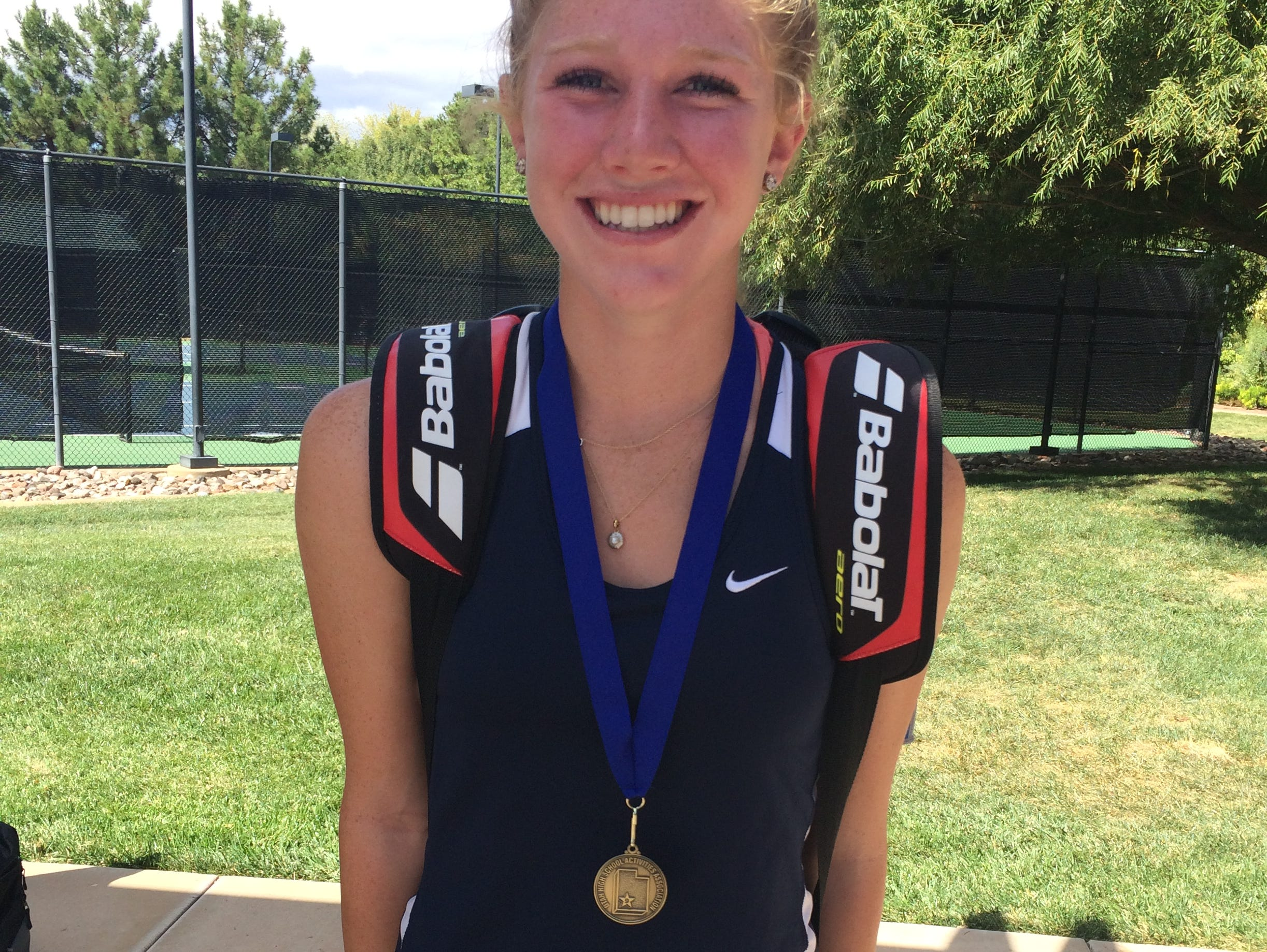 Snow Canyon's Brielle Neilsen took home the top honors in second singles after defeating Lily Hemenway 6-2, 6-2 on Saturday.