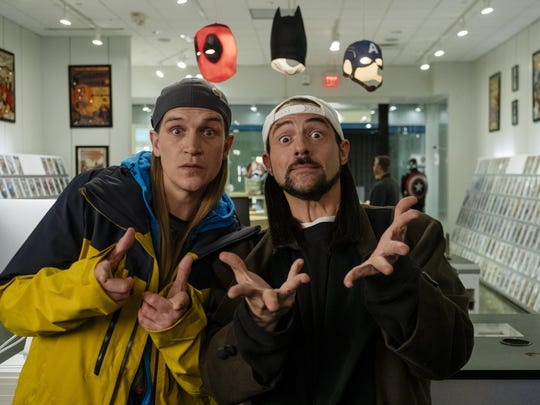 """Jason Mewes (left) and Kevin Smith in """"Jay and Silent Bob Reboot."""""""