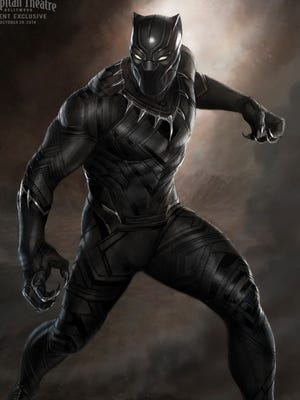 "Concept art for Marvel's upcoming ""Black Panther"" movie starring Chadwick Boseman."