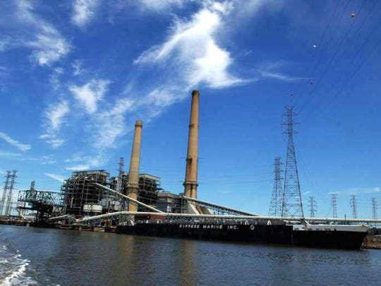 PSE&G's former coal-fired power plant on the Hackensack River in Jersey City. The plant was closed in 2017.