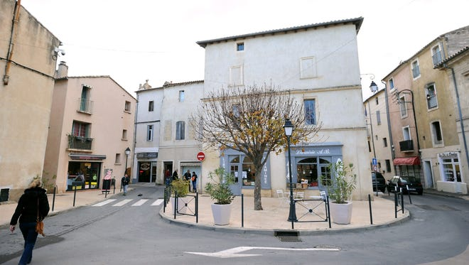 A picture taken on Jan. 27, 2015 shows the center of Lunel, southern France, where five people were arrested during the operation in the city from which about 20 people left to engage in jihad in Syria.