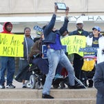 Ray Armstrong supporters turned out Monday to endorse the mayoral candidate on the steps of city hall.