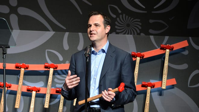 Lending Club chairman and CEO Renaud Laplanche resigned after a company probe of loan sales. Here, he speaks at 2016 Tribeca Disruptive Innovation Awards.