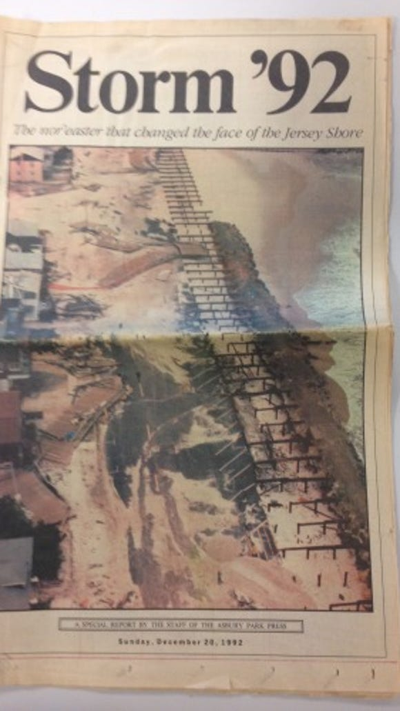 Asbury Park Press special section after the December 11, 1992, nor'easter