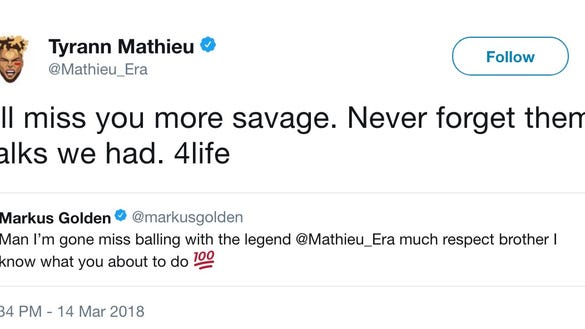 Tyrann Mathieu handled his release from the Cardinals in the classiest way