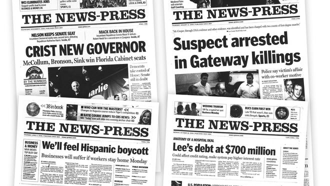 2006 front pages from The News-Press
