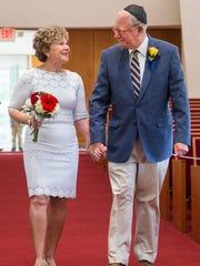 Sandy Hermanoff and husband Michael Hermanoff, renew their wedding vows in September 2015.