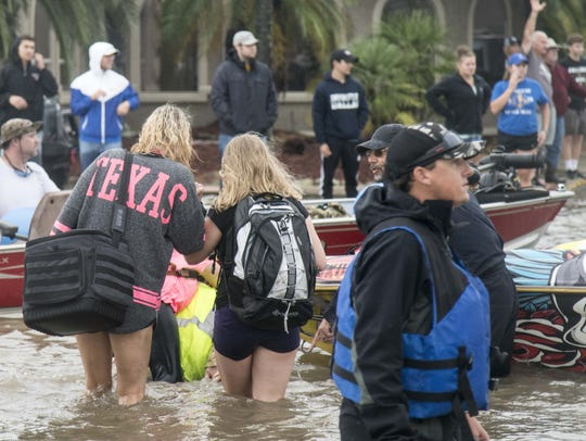 Rescuers, some first responders and others volunteers,