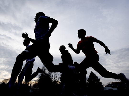 Track and Field stock image