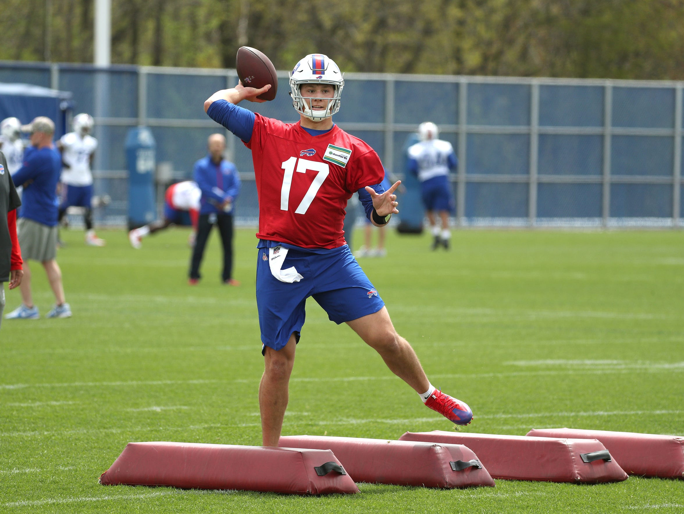 Bills top draft pick quarterback Josh Allen talking
