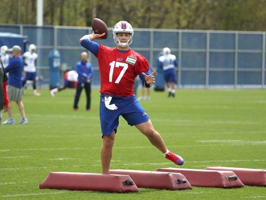 Bills top draft pick quarterback Josh Allen talking