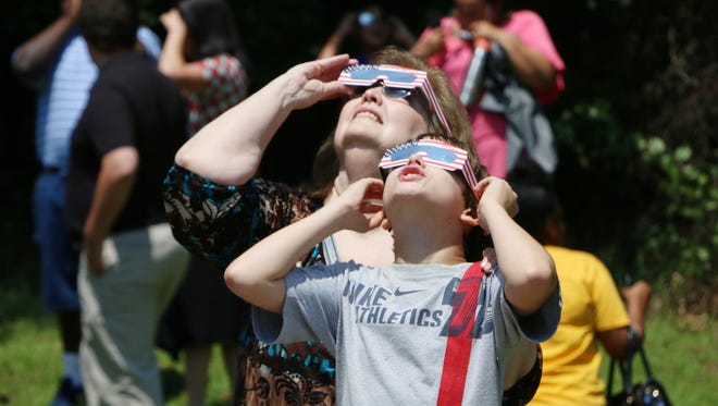 More than 100 people attended an eclipse viewing party at Oak Grove Public Library. In Hattiesburg, the eclipse covered 85 percent of the sun at its maximum point.