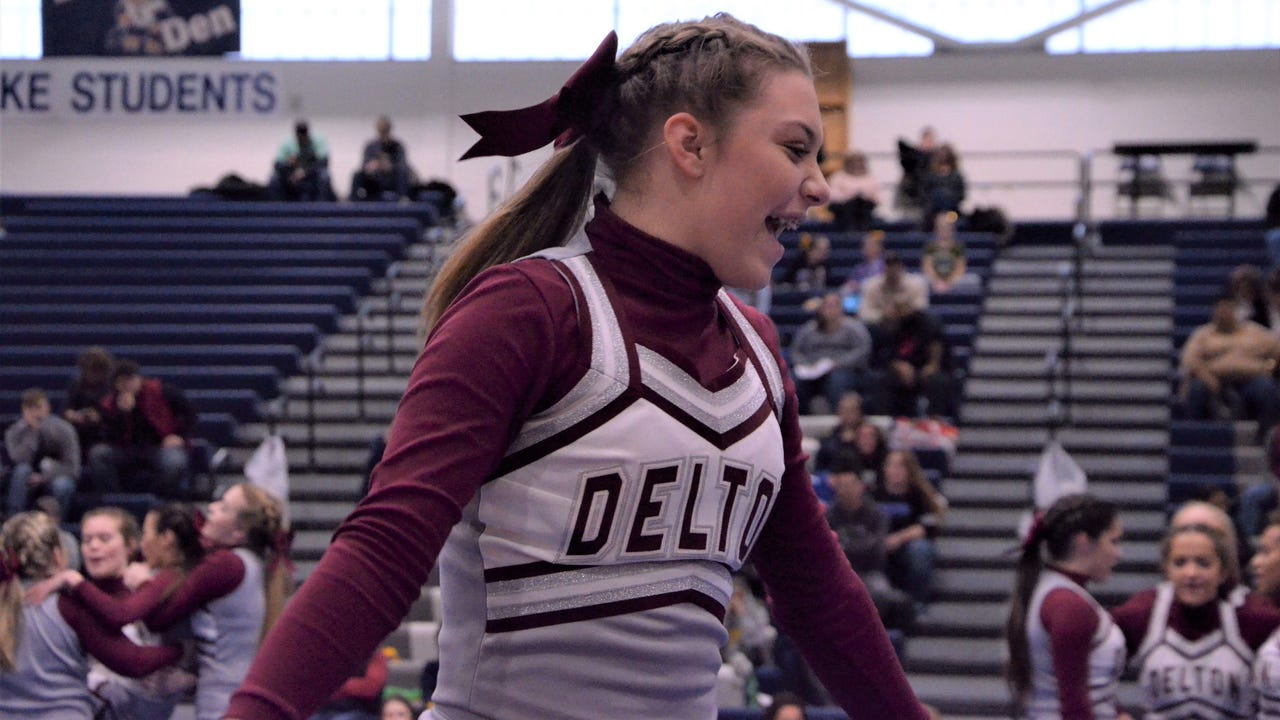 Gull Lake hosted its annual competitive cheer event on Jan. 13, 2018, with the host Blue Devils coming away with a first-place trophy.