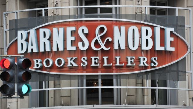 A Barnes & Noble bookstore sign is seen in Washington,D.C.