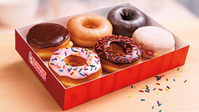 With an AARP card, you can get a free doughnut at Dunkin' Donuts with a large or extra large coffee purchase.