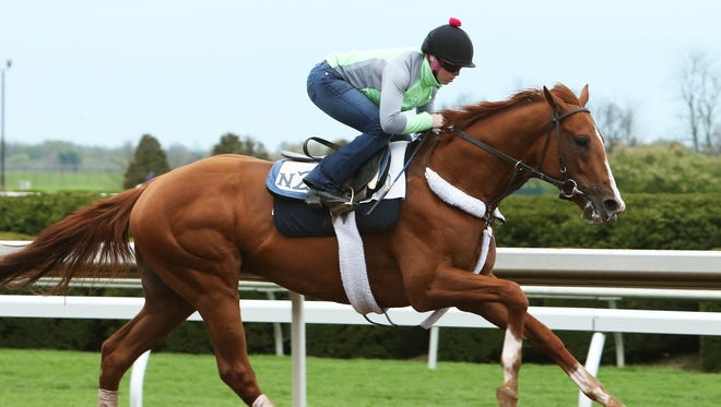 Nick Zito-trained Frammento trains Thursday morning at Keeneland.