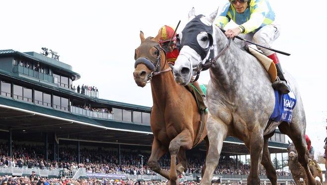 RACE DAYThe Hagyard Fayette Gr II - 58th RunningKeeneland Race Course     Lexington, KentuckyOctober 30, 2015    Race #05Purse $200,0001-1/8 Miles  1:47.90Matthew Schera, OwnerTodd A. Pletcher, TrainerJohn Velazquez, JockeyHoppertunity (2nd)Encryption (3rd)$10.60 $5.20 $4.40Order of Finish - 3, 5, 10, 9Please Give Photo Credit To:  / Coady Photography