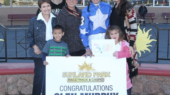 Jockey Glen Murphy celebrates 3,000th thoroughbred