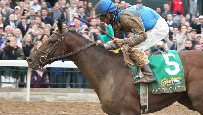 Brody's Cause, with Corey Lanerie up, won Keeneland's Grade I Breeders' Futurity last October.